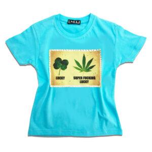K127 Super Fucking Lucky 14u-Ρούχα-Αξεσουάρ-unisex-παιδικά-αγόρια-κορίτσια-χειροποίητο-t-shirt-μοναδικό-Λογότυπο-Εκτπύπωση-Στάμπα