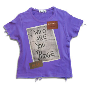 k236 14u-Ρούχα-Αξεσουάρ-unisex-παιδικά-αγόρια-κορίτσια-χειροποίητο-t-shirt-μοναδικό-Λογότυπο-Εκτπύπωση-Στάμπα who are you to judge