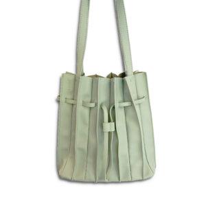DST.L.21339 14u Ελληνική Εταιρεία Ρούχα αξεσουάρ Ιδιαίτερη Πλισέ Τσάντα από Εξαιρετικής Ποιότητας Οικολογικό Δέρμα