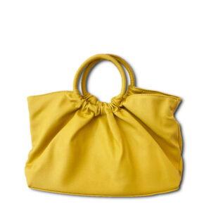 DST.L.6234 14u Ελληνική Εταιρεία Ρούχα αξεσουάρ Ιδιαίτερη Τσάντα με Ξύλινα χερούλια από Εξαιρετικής Ποιότητας Οικολογικό Δέρμα