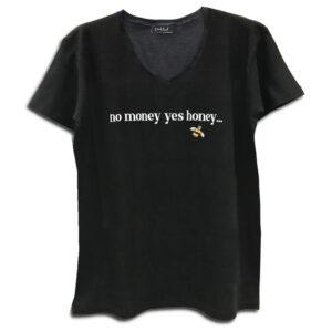 14u ρούχα αξασουάρ unisex άντρας γυναίκα No money YES Honey χειροποίητο t-shirt κεντημένο swarovski