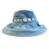 DST.H.02 BUTTONS 1.4.U Ελληνική Εταιρεία Ρούχων και Αξεσουάρ Φαρδύ Βαμβακερό καπέλο με Φιλντισένια Κουμπιά