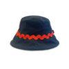 DST.H.03 ZIGZAC 1.4.U Ελληνική Εταιρεία Ρούχων και Αξεσουάρ Βαμβακερό Bucket καπέλο με Ric-Rac