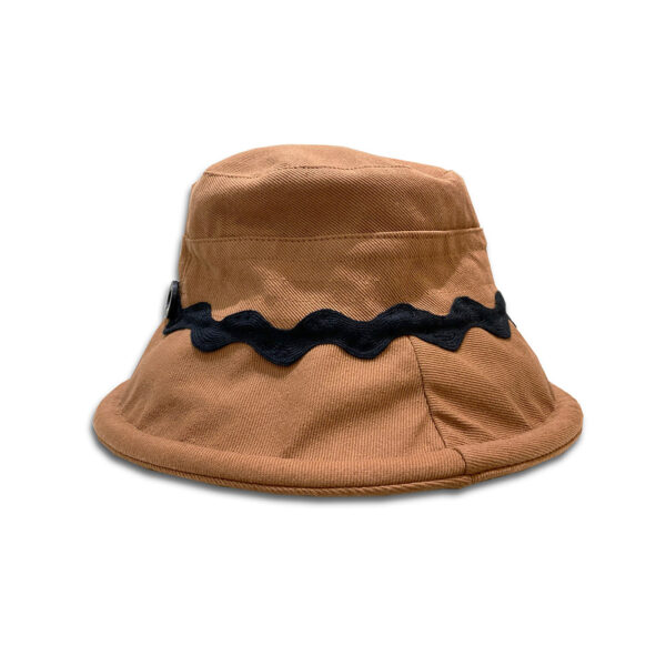 DST.H.03-ZIGZAC-14u-Hellenic-Fashion-Brand-Colorful-Modern-stylish-trendy-bucket-hat-cotton-beautiful-Luxury-limited-Style-woman-gift-exclusive-brown