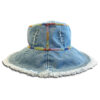 DST.H.06 Festival 1.4.U Ελληνική Εταιρεία Ρούχων και Αξεσουάρ Bucket Βαμβακερό καπέλο με Χειροποίητο Κέντημα