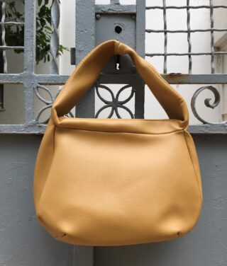The Locorotondo Bag. In the right kind of yellow. 🧀  #bag #veganleather #handmade #handcrafted #yellow #mustard #accessories #ss21 #ss2021 #greekbrand #greekdesigners #madeingreece #greekdesigner #fashion #collection #bagcollection #style #streetstyle #handbag