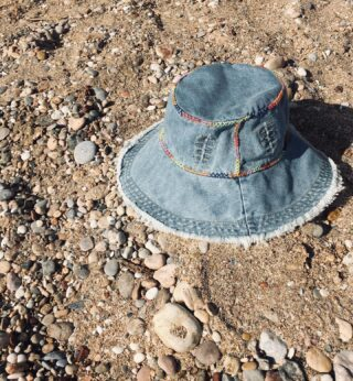 The Festival denim bucket hat is an easygoing summer hat that you can store in your bag or pocket and it won't loose its shape. 🎡  #hat #buckethat #denimhat #handmadehat #handcraftedhat #greekbrand #greekdesigners #madeingreece #hatcollection #summer #holiday #holidays #ss21 #ss2021 #handmade #handcrafted #fashion #accessories #beach #beachlife
