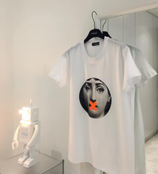 Fashion, Art & Design at its best. 🧻  #fashion #design #art #robotlamp #tshirt #14Uofficial #white #conceptstore #men #women #cool #seletti #style #classic #handmade #handcrafted