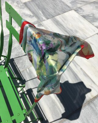A colorful scarf waving in the daylight. 🚩  #fashion #accessories #14Uofficial #color #scarf #coloful #summer #june #greekbrand #greekdesigners #madeingreece #greekdesigner #art #fantastic #style #summertime #supportsmallbusiness #collection #ss21 #ss2021
