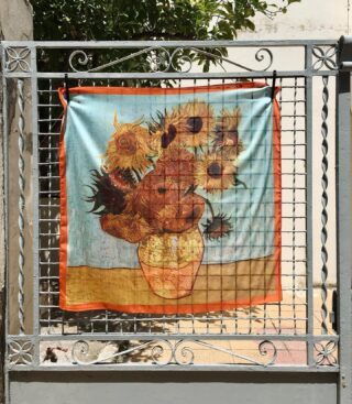 A piece of art for your everyday life. New Sunflowers Scarf.